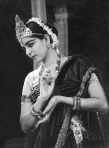 Sri Rukmani Devi, the famous Bharatanatyam dancer as she appeared on October 6, 1940.