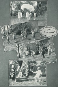 "From the 1925 ""Hi-O-Hi,"" the Oberlin College yearbook. ""The Tree Lover"" pageant saw dance students portraying  elements from the natural world."