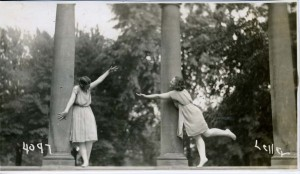 """Interpretive Dance Pose at Memorial Arch"" at Oberlin College; See Dance at Oberlin section for more"