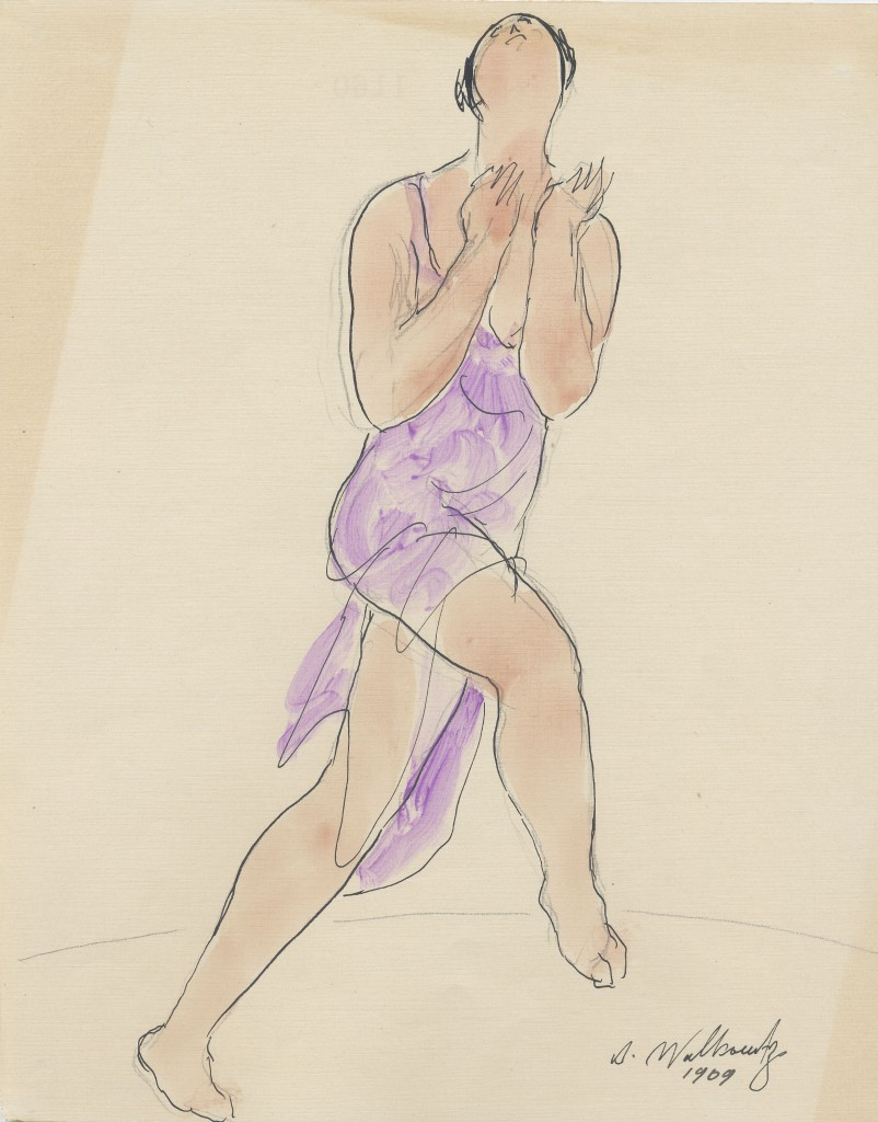 Isadora Duncan watercolor by Abraham Walkowitz