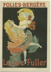 Jules Chéret's 1893 poster advertising Fuller's performances at the Folies Bergère