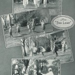 """Images of """"The Tree Lover"""" pageant in the 1925 Oberlin College yearbook"""